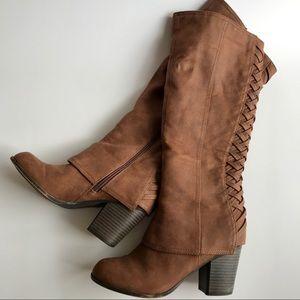 Fergalicious Tootsie Tall Heeled Boots Brown
